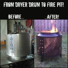 My Name Is Not King...: DIY: How to Make a Backyard Firepit Out of a Salvaged Dryer Drum #Cars-Motorcycles