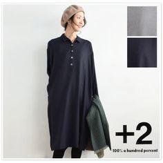 【+2 プラスツー】ウール ビエラ シャツ ワンピース (plus2475023)レディース ファッション 日本製 秋 冬 クリスマス