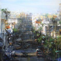 San Francisco Whites by Mark Lague Oil ~ 36 x 36