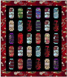 Lanterns quilt - love the Asian inspired fabric