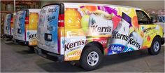 kern's nectar | Kerns Nectar Fruit Drink Vehicle Fleet - Graphic Design and Full Body ...