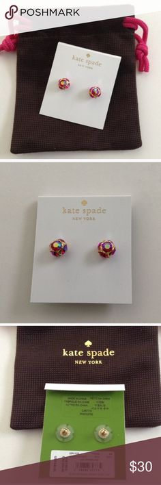 NWT Kate Spade Lady Marmalade Earrings NWT Kate Spade Lady Marmalade Earrings - red/pink sparkly earrings! So pretty!! No trades.  **I try to give my best prices upfront. If you make an offer I will counter with my lowest. If you bundle I will give special bundle discounts!!** kate spade Jewelry Earrings