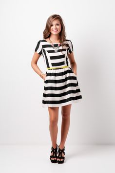 striped dress #swoonboutique