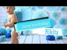 Первый день рождения | Ребенку 1 год | Cake Smash | Nikita - YouTube