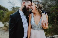 ISOBEL + STEVE // #realwedding #NSW #rocknroll #tattoos #colour #ocean #inspiration #playful #wedding