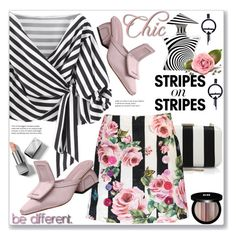 """""""Pattern Challenge: Stripes on Stripes (Street Chic)"""" by jecakns ❤ liked on Polyvore featuring Bond No. 9, Burberry, Alice + Olivia, Dolce&Gabbana and Edward Bess"""