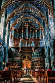 The Cathedral Basilica of Saint Cecilia also known as Albi Cathedral, France