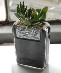 Rehabulous Gentleman Jack Whiskey Bottle Planter | zulily
