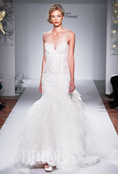 A tulle and lace mermaid #weddingdress | Brides.com