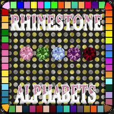 Rhinestones, Alphabet, Alpha Bet, Gems