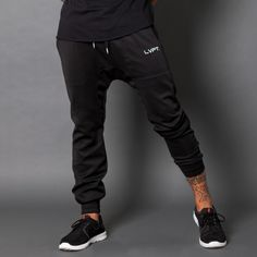 LVFT drop-crotch Tech Joggers.  Made durable and breathable for a comfortable, functional fit in and out of the gym.100% PolyesterEmbroidered LVFT letteringCuffs tight enough to scrunch up and not fall loose during impactSlight she...