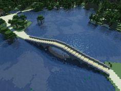 A Simple, Elegant Bridge for Minecraft Art Minecraft, Minecraft Bridges, Minecraft Building Guide, Minecraft Structures, Minecraft Plans, Amazing Minecraft, Minecraft House Designs, Minecraft Tutorial, Minecraft Blueprints