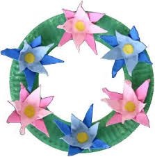 Dltk'S holiday crafts for kids egg carton wreath Rainy Day Crafts, Holiday Crafts For Kids, Fathers Day Crafts, Paper Plate Crafts, Craft Stick Crafts, Craft Ideas, Wreath Crafts, Flower Crafts, Paper Flowers For Kids