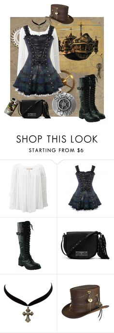 """""""Steam Punk Dreams"""" by lacehearts58 on Polyvore featuring Michael Kors, Vince Camuto, Charlotte Russe, Overland Sheepskin Co. and steampunk"""