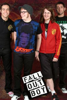 I wasn't gonna repin but then I noticed that Pete was wearing pink converse, and also the HP merch in this picture makes me proud