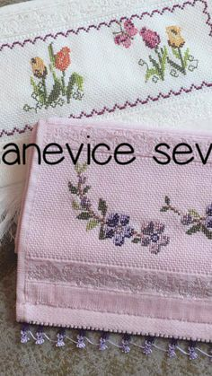 Stitches, Cross Stitch, Face Towel, Bath Linens, Cross Stitch Embroidery, Flower, Craft, Border Tiles, Towels