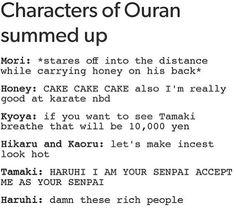OHSHC characters