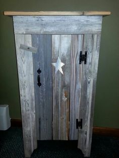 Barn wood honey cabinet