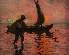 Alberto Pla y Rubio Smuggling oil on canvas Impressionist Artists, Boat Painting, Spanish Artists, Art For Art Sake, 2d Art, American Artists, Pretty Pictures, Figurative Art, Oil On Canvas