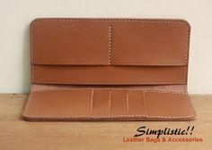 Leather Wallet / Long Wallet / Men's Wallet by SimplisticII