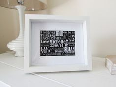 Personalised Engagement Gift Framed Print by NJRDesigns on Etsy £20