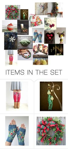 """""""tis the season"""" by yforyouonetsy ❤ liked on Polyvore featuring art"""