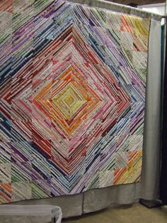 Selvage strip quilt | 2011 Fiber Arts Fiesta, Albuquerque, N… | By: Joyce in the CactusPatch | Flickr - Photo Sharing!