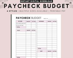 Weekly Budget Template for Two Incomes Weekly Expense Log | Etsy Dave Ramsey Debt Snowball, Weekly Budget Template, Expense Tracker, Budget Planner, Worksheets, Budgeting, Finance, Knowledge, Templates