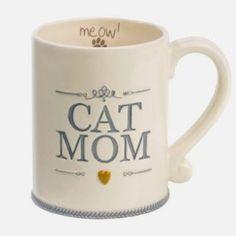 "Amazon.com: ""Cat Mom"" Ceramic Coffee Mug Meow Animal Pet Lover Gift Grasslands Road: Kitchen & Dining"