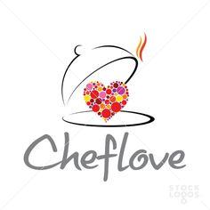 Chef Love - by amir Restaurant Logo Design, Food Logo Design, Logo Food, Restaurant Food, Target Paint, Food Company Logo, Kitchen Icon, Free Kitchen Design, Chef Logo