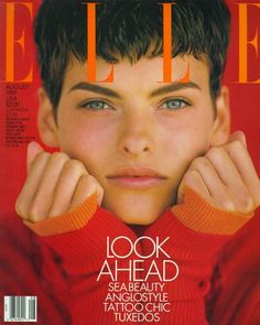 Linda Evangelista photographed by Gilles Bensimon for Elle August 1989