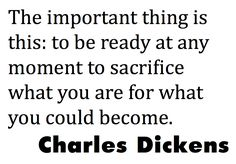 sacrifice quote by Charles Dickens. {Lemon and Raspberry}