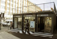 London's first Pop-Up Shipping Container Mall Opens in Shoreditch.