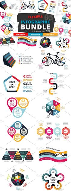 @newkoko2020 Flexible Infographic Bundle (vol.5) by Infographic Paradise on @creativemarket #infographic #infographics #bundle #design #template #presentation #vector #business #layout #creative #graph #information #visualization