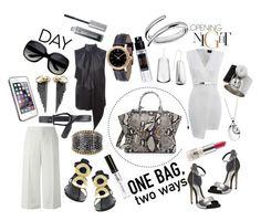 """ONE BAG two ways"" by katarina-blagojevic ❤ liked on Polyvore featuring Fendi, Marni, Giuseppe Zanotti, Givenchy, MaxMara, LifeProof, Rachel Entwistle, Lagos, Versace and Bare Escentuals"