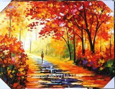 Big size Hand-painted modern home decor art  thick acrylic colors woods…