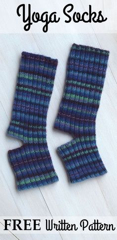 Free simple pattern for yoga socks, nice and detailed for beginners, adaptable, different binding off options #yogasocks
