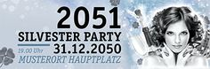 Personalisierte Werbung für Ihre #Silvester #Party einfach online gestalten von #onlineprintxxl #onlinebanner #silvesterparty #prosit
