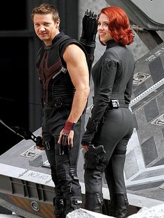 Hawkeye and Black Widow. They are officially an awesome couple!