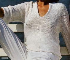 Ce bon vieux pull tube: Pull d'été femme tricoté en jersey