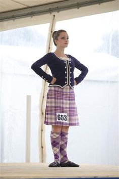 Kilt with purple jacket #earl #purple #tartan