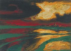 autumn evening, emil nolde, 1924