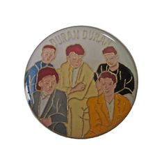 """DuRAN DuRAN vintage enamel pin piback lapel badge 1980s pop rock tour concert memorabilia by VintageTrafficUSA  14.00 USD  A vintage DuRAN DURAN pin! Used but excellent condition. Measures: approx 1"""" 20 years old hard to find vintage high-quality cloisonne lapel/pin. Beautiful die struck metal pin with colored glass enamel filling. Add inspiration to your handbag tie jacket backpack hat or wall. Have some individuality = some flair! -------------------------------------------- SECOND ITEM…"""