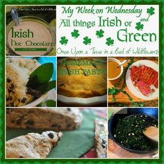 My Week on Wednesday: All things Green or Irish -- Everything you need to celebrate St Patrick's Day!!! via Once Upon a Time in a Bed of Wildflowers