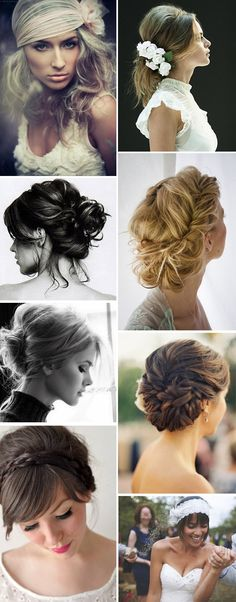I love all these hair styles, wedding day, or everyday...