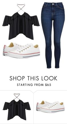 """Untitled #532"" by cuteskyiscute on Polyvore featuring Converse and Topshop"