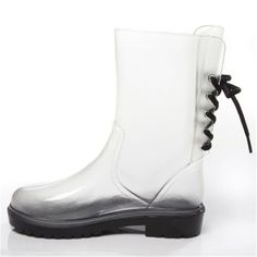 Stylish Women's Rain Boots Water Shoes High Leg With Cute Pattern Tyc201 *** Read more  at the image link.