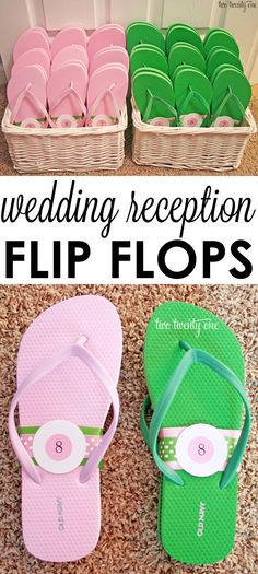 A treat for your guests' feet-- wedding reception flip flops!