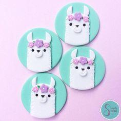 Cupcakes ideas for kids birthday fondant 50 ideas for 2019 Fondant Cupcake Toppers, Cupcake Cakes, Rose Cupcake, Mini Cakes, Llama Birthday, Baby Birthday, Salty Cake, Oreo Cake, Birthday Cupcakes