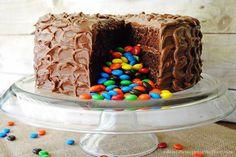 Pinata Cake with M&Ms Recipe & Tutorial {easier than it looks!}. #shop #BakingIdeas and #cbias